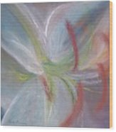 Abstract Lily Wood Print