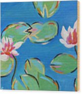 Abstract Lily Pads Wood Print