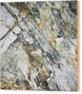 Abstract Limestone And Silica Texture Wood Print