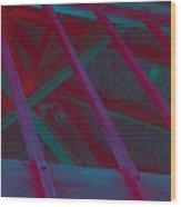 Abstract Line Wood Print
