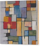 Abstract Line Series  Wood Print