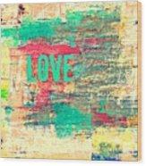 Abstract Love V2 Wood Print