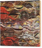Abstract Magnified Lines Wood Print