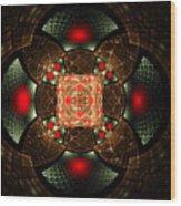Abstract Mandala 2 Wood Print