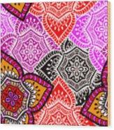Abstract Mandala Floral Design Wood Print
