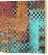 Abstract Modern Art - Pieces 1 - Sharon Cummings Wood Print