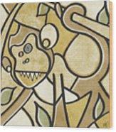 Funky Monkey - Zeeko Abstract Monkey Wood Print