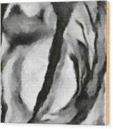 Abstract Monochome 154 Wood Print