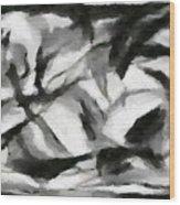 Abstract Monochome 156 Wood Print