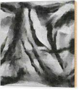 Abstract Monochome 158 Wood Print