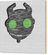 Abstract Monster Cut-out Series - Ferko Wood Print