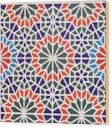 Abstract Moroccon Tiles Colorful Wood Print