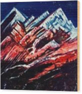 Abstract Mountains Wood Print