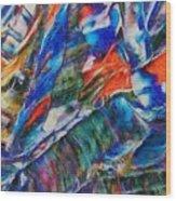 abstract mountains II Wood Print