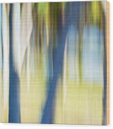 Abstract Moving Trees 30 Wood Print