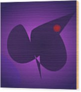 Abstract Navy And Purple Wood Print