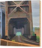 Abstract No. Eighteen Wood Print