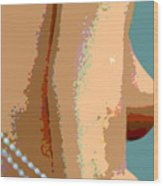 Abstract Nude Wood Print by JoAnn Lense