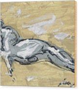 Abstract Nude Wood Print