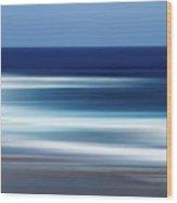 Abstract Ocean Waves Wood Print