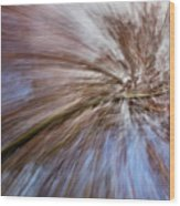 Abstract Of A Spring Tree In Bloom. In Camera Effect. Wood Print