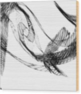 Abstract Of Dolphins In Courting Ritual Wood Print