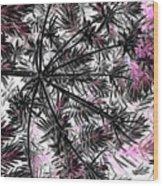 Abstract Of Ever Green Bush Wood Print