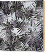 Abstract Of Low Growing Evergreen Shrub Wood Print