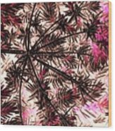 Abstract Of Low Growing Shrub  Wood Print