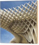 Abstract Of Metropol Parasol Pod At Plaza Of The Incarnation Sev Wood Print