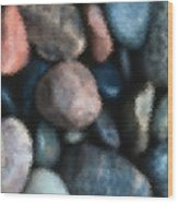 Abstract Of River Rocks 1 Wood Print