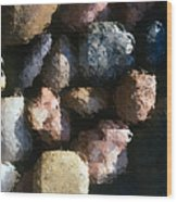 Abstract Of River Rocks 2 Wood Print