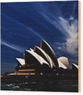 Abstract Of Sydney Opera House Wood Print