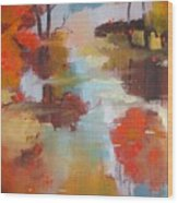 Abstract Of Wild Auge River  Wood Print