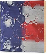 Abstract Oil And Water Usa 2 Wood Print
