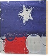 Abstract Stars And Stripes Wood Print
