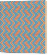 Abstract Orange, Red And Cyan Pattern For Home Decoration Wood Print