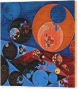 Abstract Painting - Dark Midnight Blue Wood Print