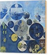 Abstract Painting - Kashmir Blue Wood Print