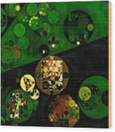 Abstract Painting - Lincoln Green Wood Print