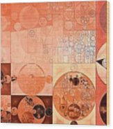 Abstract Painting - Mandys Pink Wood Print