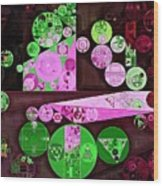 Abstract Painting - Pale Plum Wood Print