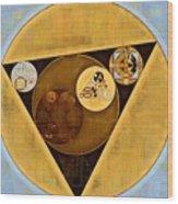 Abstract Painting - Satin Sheen Gold Wood Print