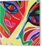 Abstract Painting - Woman Of Colors Wood Print