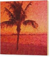 Abstract Palm Wood Print