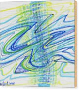 Abstract Pen Drawing Forty Wood Print