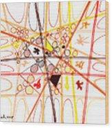 Abstract Pen Drawing Three Wood Print