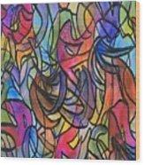 Abstract Pen Wood Print