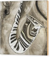 Piano Keys In A Saxophone 3 - Music In Motion Wood Print