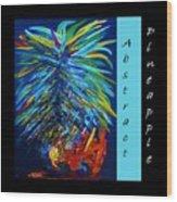 Abstract Pineapple Wood Print